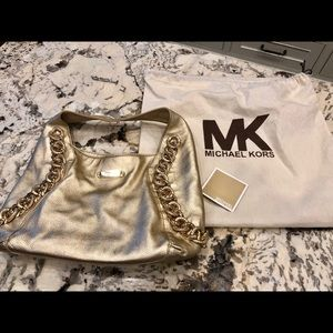 Michael Kors Metallic Gold Purse